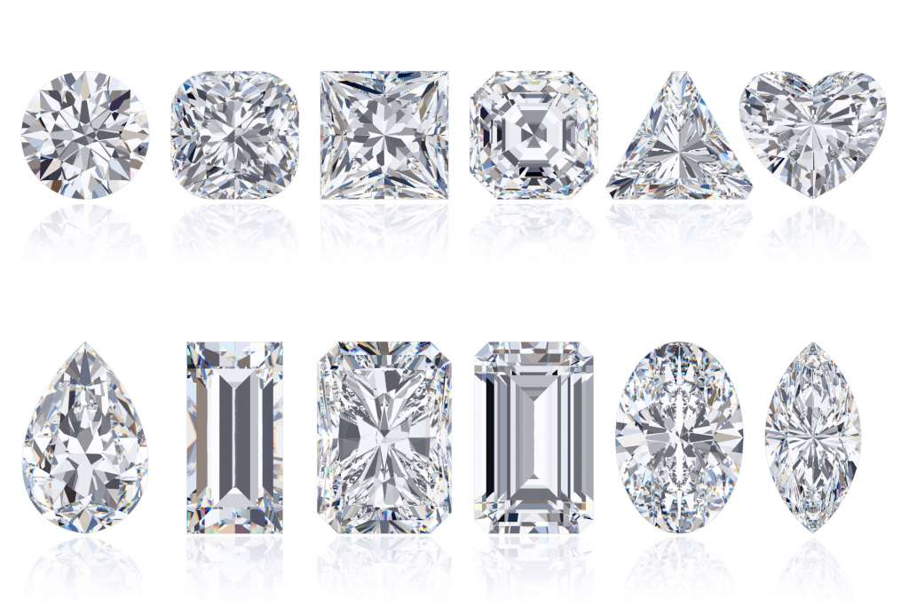 The custom process starts with narrowing down the diamond search through the four C's: Cut, Clarity